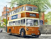 Trolley bus painting