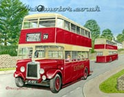 East Kent 1950s Bus painting