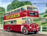 East Kent AEC Regent bus portarit