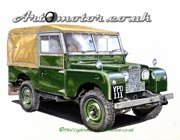 Painting of a Landrover 1