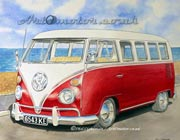 VW camper painting
