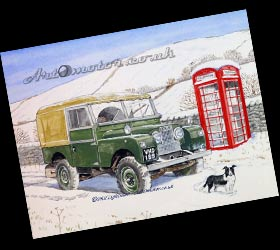 Painting of a Land Rover