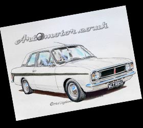 Lotus Cortina painting